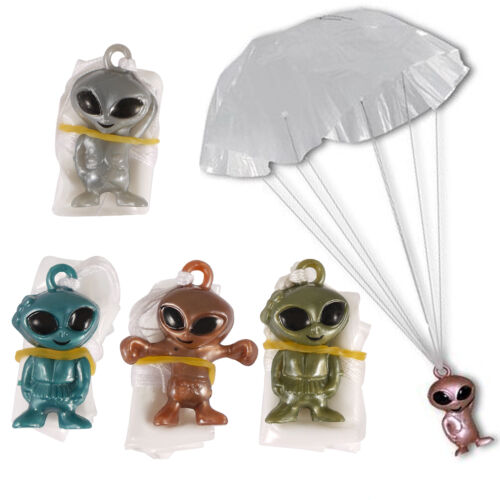 1 6 12 24 SPACE ALIEN PARACHUTING TOYS BOYS GIRL LOOT BIRTHDAY PARTY BAG FILLERS