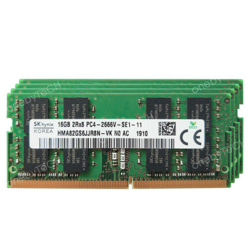 For Hynix 16GB 32GB 64GB PC4-2666V DDR4 PC4-21300s SODIMM 260 pin Memory Module