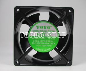 TOYO-T30-T-Aluminum-frame-axial-fan-18-17W-220-240VAC-80-105CFM-42-47DBA-12CM