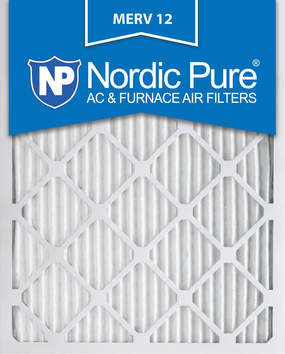 Nordic Pure 8x24x1 Exact MERV 12 Pleated AC Furnace Air Filters 1 Pack