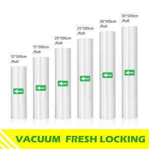 5 Pack Vacuum Sealer Rolls Packaging Food Storage Bag Sous Vide Food Bags 500cm