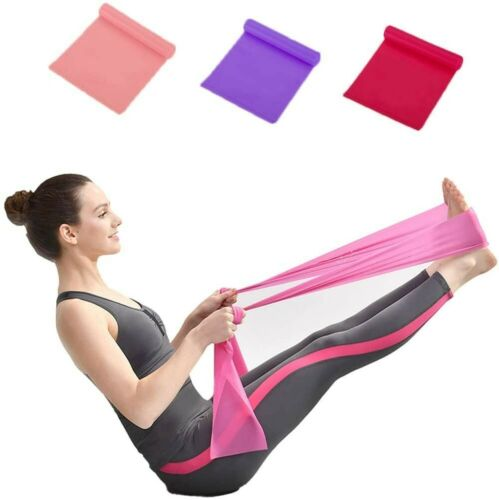 Purple and Red Includes Storage Bag Yoga Tension Training Belt 3 Belts in Pink