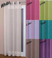Ringtop Eyelet Voile Curtain Panel ~ Machine Washable