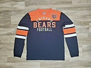 new styles 0ba1c bbcb1 Details about Reebok Mens L Blue Long Sleeve T Shirt Chicago Bears NFL  Vintage Collection Sz L