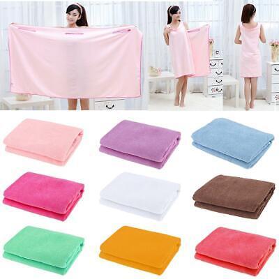 Microfiber Towel Soft Wearable Fast Drying Shower Spa Sauna Beach Bath Body