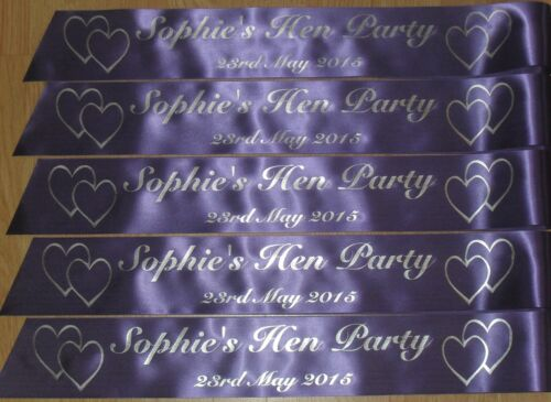 PERSONALISED HEN PARTY SASH PACK OF 23 MANY COLOUR CHOICES AVAILABLE L@@K!!!!