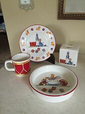 Tiffany & Co Toys Mason's Ironstone England  Cup Dish Bowl Bank COMPLETE SET!