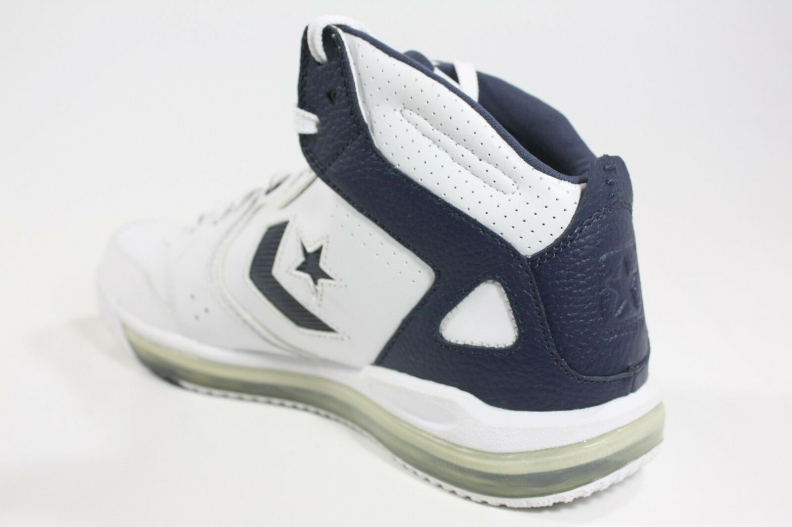 NEW/RARE Converse All Star Sicks Mid - - Mid White/Navy (117011) f13776