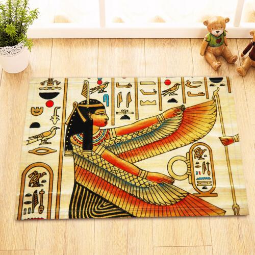 "Non-Slip Mat Rug 15X23/"" Door Floor Soft Carpet Rugs Egyptian Goddess and Symbols"