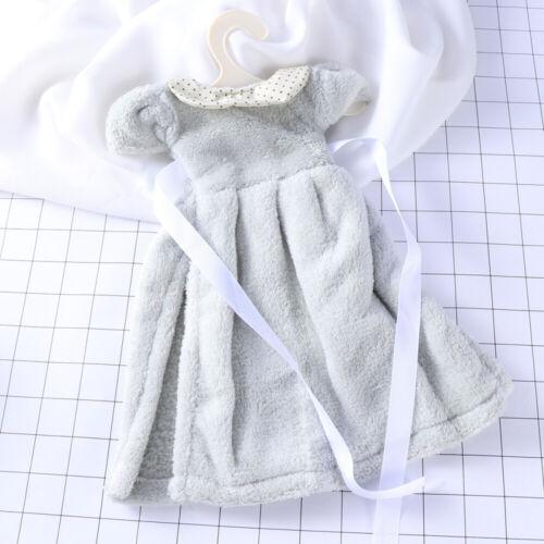 Cute Dress Super Absorbent Thick Coral Velvet Bathroom Kitchen Hanger Hand Towel