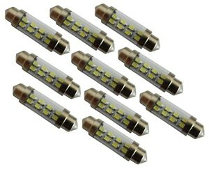10x-ampoule-veilleuses-C5W-12V-8LED-blanc-effet-xenon-39mm-eclairage-interieur