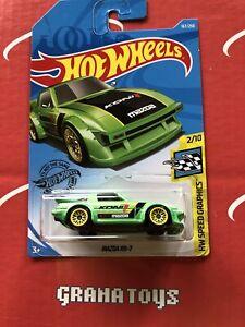 Hot Wheels MAZDA RX-7 2019 #167//250 Vert @ N