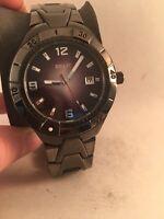 Relic by Fossil Mens Black Date Dial Gunmetal Finish Quartz Watch ZR11811-HH