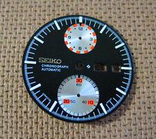 - New SEIKO 6138 Black / Silver sub dials Chronograph DIAL (ufo)