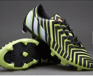 Permitirse granero seguro  Adidas Predator Absolion Instinct Black Yellow Football Boots FG Size 11  B35463 | eBay