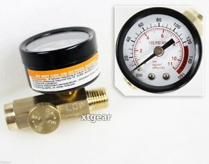 SOLID BRASS AIR PRESSURE REGULATOR WITH GAUGE