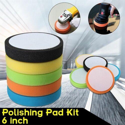 Waxing Buffing Soft Flat 150mm Sponge Buffer Polishing Pad Buffingpad Pad Kit
