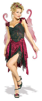 Midnight Fairy Gothic Pixie Fancy Dress Up Halloween Sexy Adult Costume w/Wings