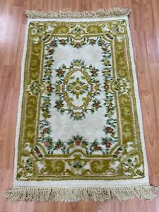 2-039-x-3-039-Chinese-Aubusson-Oriental-Rug-Full-Pile-Hand-Made-100-Wool