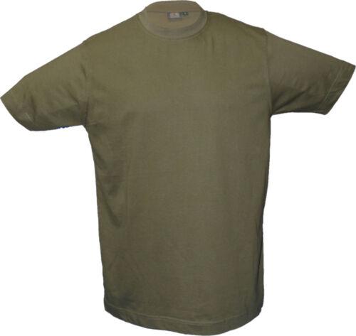 2x  T-Shirt = Doppelpack = 2 Stück oliv und camouflage Jagd-T-Shirt OS-TRACHTEN