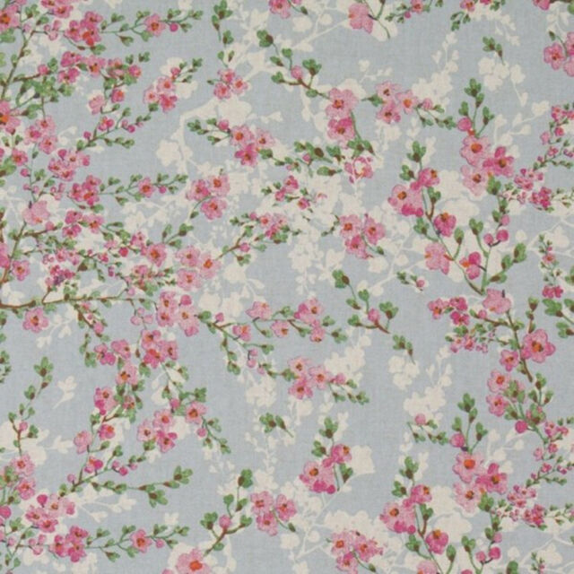 Lucky Clover Field Ladybirds And Daisies Cotton Linen Look Upholstery Fabric