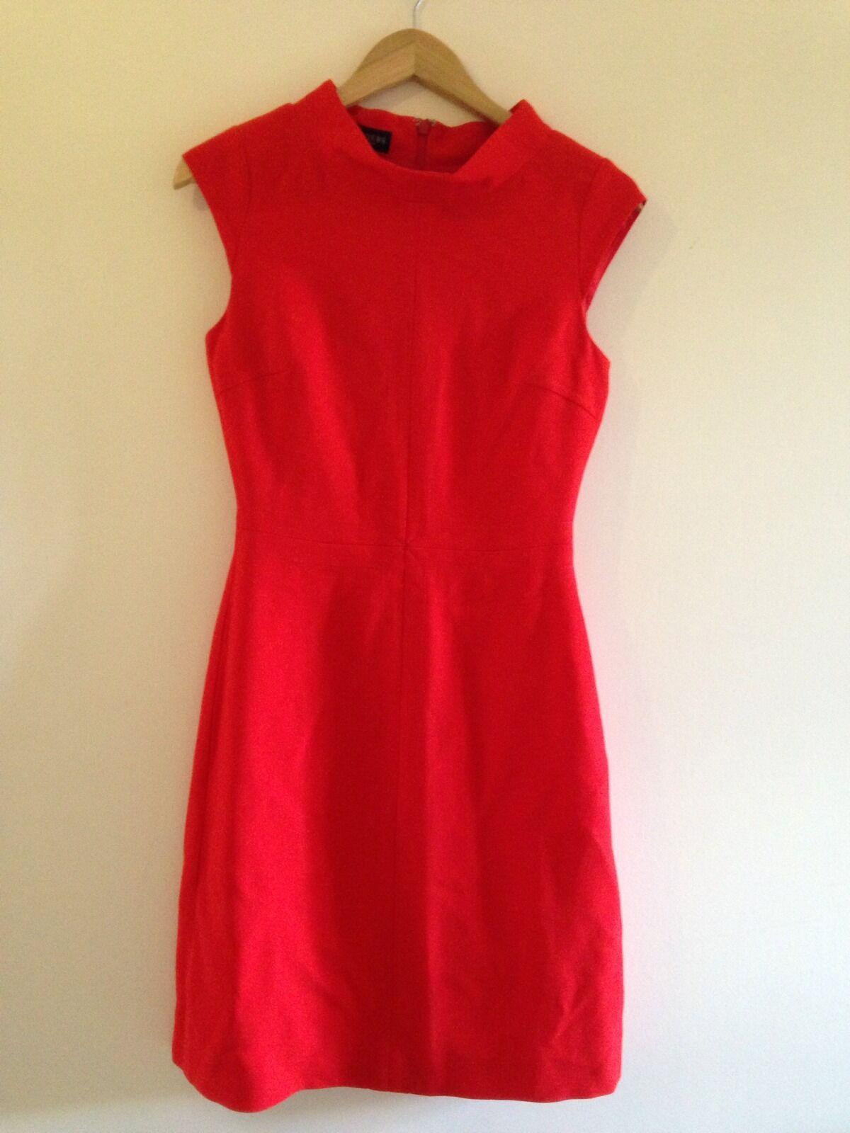 Hobbs RUBENS Flame Red dress - UK size 8
