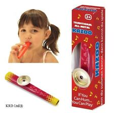 Kids METAL KAZOO Music Maker Toy Childrens Musical Instrument Flute Harmonica