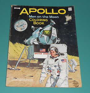 Details about Vintage 1969 APOLLO 11 Man on the Moon Coloring Book  Astronauts NASA Saalfield