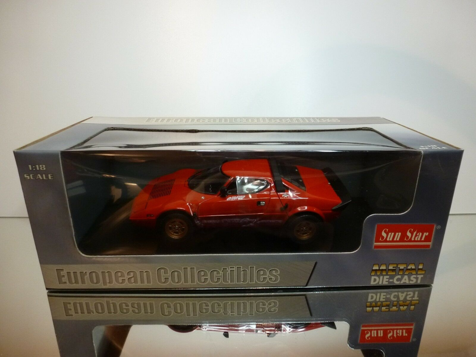 SUNSTAR 4521 LANCIA STRATOS STRADALE 1975 - rouge 1 18 - EXCELLENT IN BOX