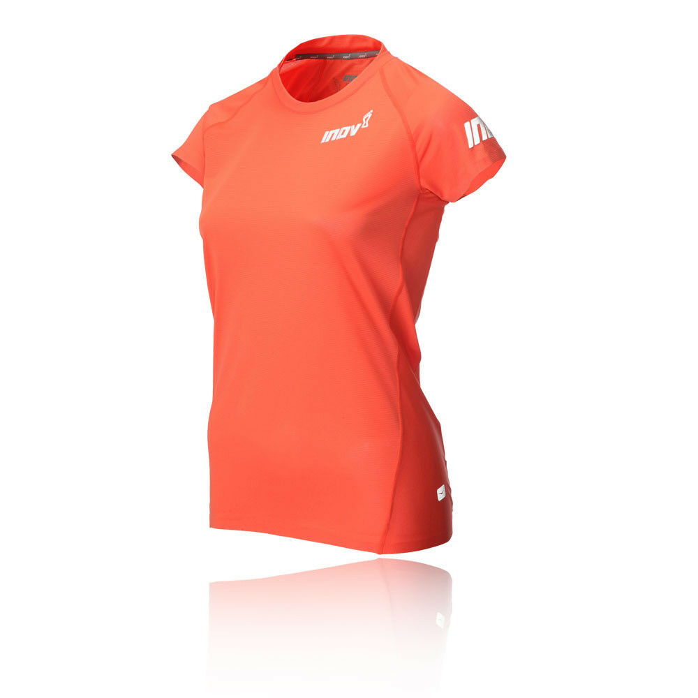 Inov8 Womens AT C Base Short Sleeve Running Top orange Sports Breathable
