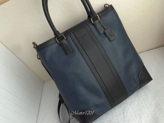 Coach F71640 Business Leather Tote Navy black for sale online