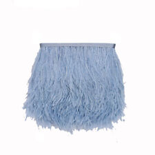 1yard beatiful natural ostrich feathers 10-15 cm Satin Ribbon Trimming Fringe
