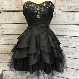 e6f941513ac5c Details about Masquerade black short formal gown dress tulle size 9/10  **FREE SHIPPING**