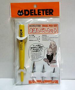New DELETER Trial Pen Set G-Pen Manga Anime Comics Japan
