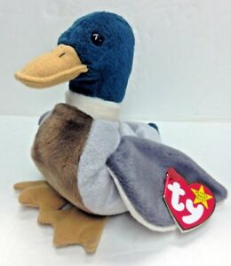 f0e3c29fb95 Image is loading TY-BEANIE-BABY-Jake-the-Mallard-Duck-April-