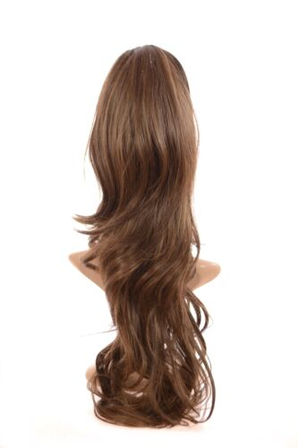 24 inches Clip on Long Wavy Crown Volumiser Hairpiece Synthetic Weft Extensions