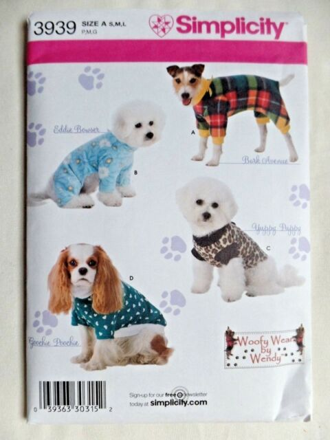 Simplicity Sewing Pattern Dog Clothes in 3 Sizes Woofy Wear by Wendy ...