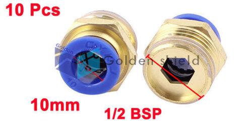 10 Pcs PC10-04 10 mm Tubo a 1//2 BSP Thread empuje en accesorios de conexión rápida