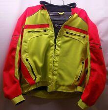 Olympia Moto Sport  Padded Motorcycle Jacket Size XXXXL, neon Yellow/orange