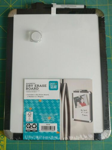 """Gear Magnetic Dry Erase Board Magnetic 8.5"""" x 11""""NEW you choose color Pen"""