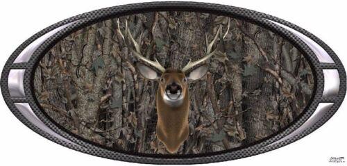 Deer buck oak ambush camouflage hunting vinyl graphic decal size options