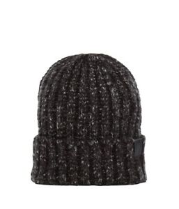 The North Face Chunky Rib Black Beanie Toque OSFA Unisex Nes Nf18  488a23cbd554