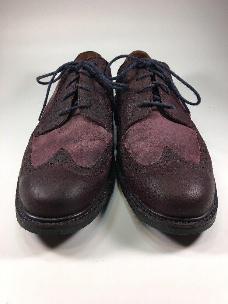 Cole Haan Leder Wingtip Burgendy Grand OS Dress 9.5 Schuhes  Uomo Größe 9.5 Dress M 4acdb3