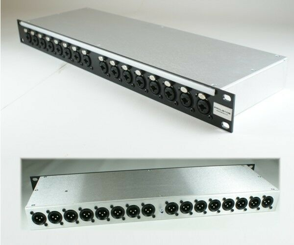 19  1U 16 Way  XLR Jack combo to rear male XLR  Patchbay