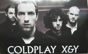 COLDPLAY-2005-X-amp-Y-Capitol-Records-2-sided-promo-poster-New-Old-Stock