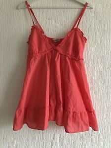 ONE-SIZE-OR-10-12-CORAL-BABYDOLL-TOP-SUMMER-TOWIE-IBIZA-CELEB-GLAM-KYLIE-KIM-NEW