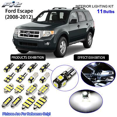 11pcs Xenon White LED Interior Light Kit For Ford Escape 2001-2007 With Sunroof