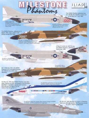 Iliad Decals 1//48 MILESTONE PHANTOMS McDonnell Douglas F-4 Phantom II