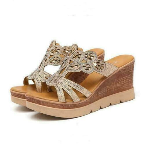 Women Summer Casual Platform Sandals Ladies High Heels Wedge Open Toe Shoes Size