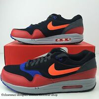 Nike Air Max 1 Essential Trainers Mens Shoes Black Trainers Uk 10 Rrp £130